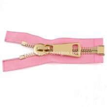 Brass No. 8 Pink Zipper for Bag