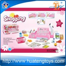 Kinder Plastik Supermarkt Spiel Set Spielzeug Kasse, Supermarkt Kasse Spielzeug mit Warenkorb H123620