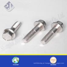 Parafuso de flange hexagonal de aço inoxidável 304