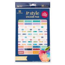 Benutzerdefinierte farbige Aufgaben / Kalender / Tagebuch dekorative Planner Aufkleber, Haftnotizen