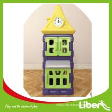 Crianças simples armazenamento plástico crianças brinquedo gabinete série LE.SK.032
