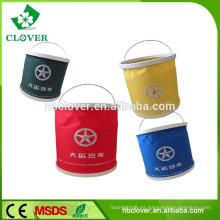 15L, al aire libre para viajes senderismo cubo de plástico con tapa, plegable cubo de agua