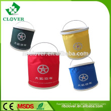 15L,outdoor for travel hiking plastic pail with lid , folding water bucket
