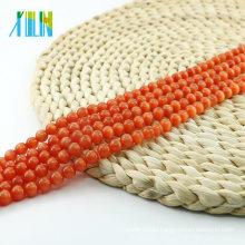 X000701 Wholesale Ball Round Jewelry Making Glass Red Cat Eye Beads