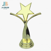 Supply 21.5cm Cheap Award Cups Custom Gold Star Metal Promotional Trophy