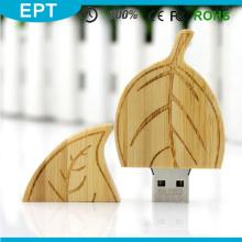 Blattform Holz benutzerdefinierte Logo USB-Stick (TW074)