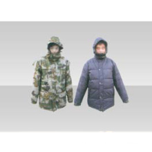 07 Woodland down and double-sided military coat