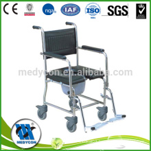 Wheelchair For Old Man Rehabilitation , Portable Commode Chair