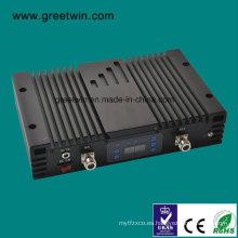 23dBm Lte700 + PCS1900 + Aws1700 Repetidor de la señal del aumentador de presión de la venda del triple / repetidor del teléfono móvil (GW-23LPA)