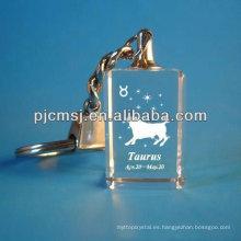 Llavero cuadrado cristalino animal para regalos de novia