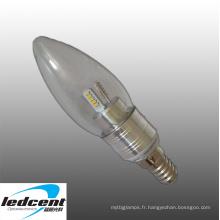3W E14 LED Ampoule Aluminium Base en Argent Couleur