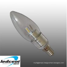 a-Sharpe LED Bulb 3W LED Candle Light in Silver Color Aluminum Base