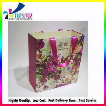 Impresión Offset Bolsa de papel Artcard brillante