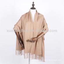 mantón de la bufanda de la cachemira del hombre o de la mujer del invierno del color del camello China Origen mongol