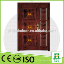 2016 security armored door double wooden door design mian entrance door
