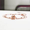 Modèles de cheville de mariée de 11 pouces en or rose simple