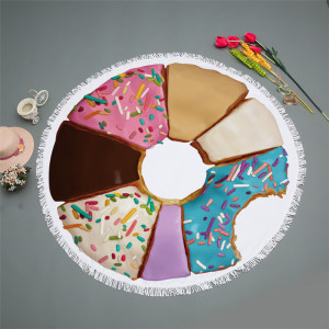 Round Donut Microfiber Beach Towel/ Towels