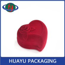 Noble Red Heart-Shaped Jewelry Box