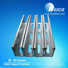 canal de suporte com ranhura / canal c / canal unistrut