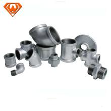 encaixes de tubulação maleáveis pretos / galvanizados do tubo do ferro fundido