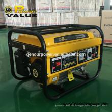 Kanton Messe meistverkaufte Produkt Power Value 2kw Benzin Generator / Generator 2kw