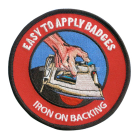 Iron on backing Embroidery Badges