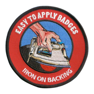 Iron on backing Broderie Badges