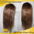 7A Grade 100% Unprocess Human Hair Full Lace Wig Silk Top Full Head Wigs
