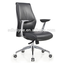 Haiyue Factory Modern Black PU Leather Mid-back height Office Home Chair Manager Chair