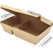 Wholesale disposable takeout food packaging PLA kraft paper lunch compostable box