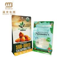 Material laminado OPP / BOPP / VMPET / LLDPE por encargo Bloque de cremallera Plaza plana bolsa de bolsa inferior para Snack