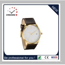 2015 date plus chaude vente montre-bracelet occasionnel avec ceinture en cuir (DC-1415)