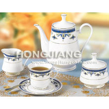 17pcs Tea Set (0051#BLUE)