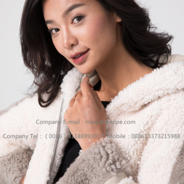 Shearling Jacket Lady Short Merino Dla Pani