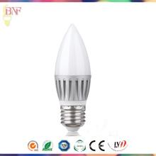 Bulbo de alumínio de fundição barato 5W / 7W / 9W E27 da vela do diodo emissor de luz C37