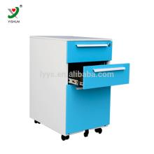 Armário de arquivo móvel do metal da gaveta do suporte 3 do escritório de Luoyang