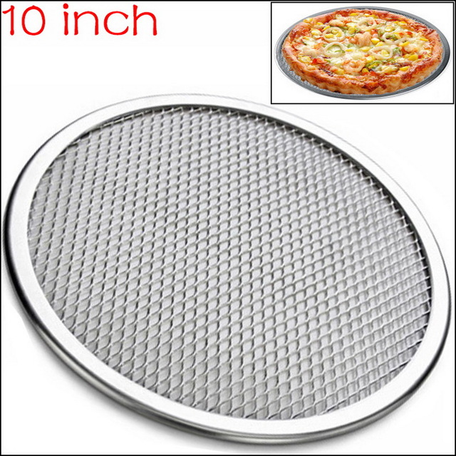 by-DHL-or-EMS-300-pcs-10-Seamless-Rim-Aluminium-Pizza-Mesh-Pizza-Screen-Baking-Tray