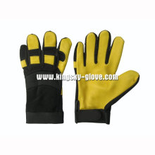 Deer Skin Leather Palm Mechanic Working Glove-7319