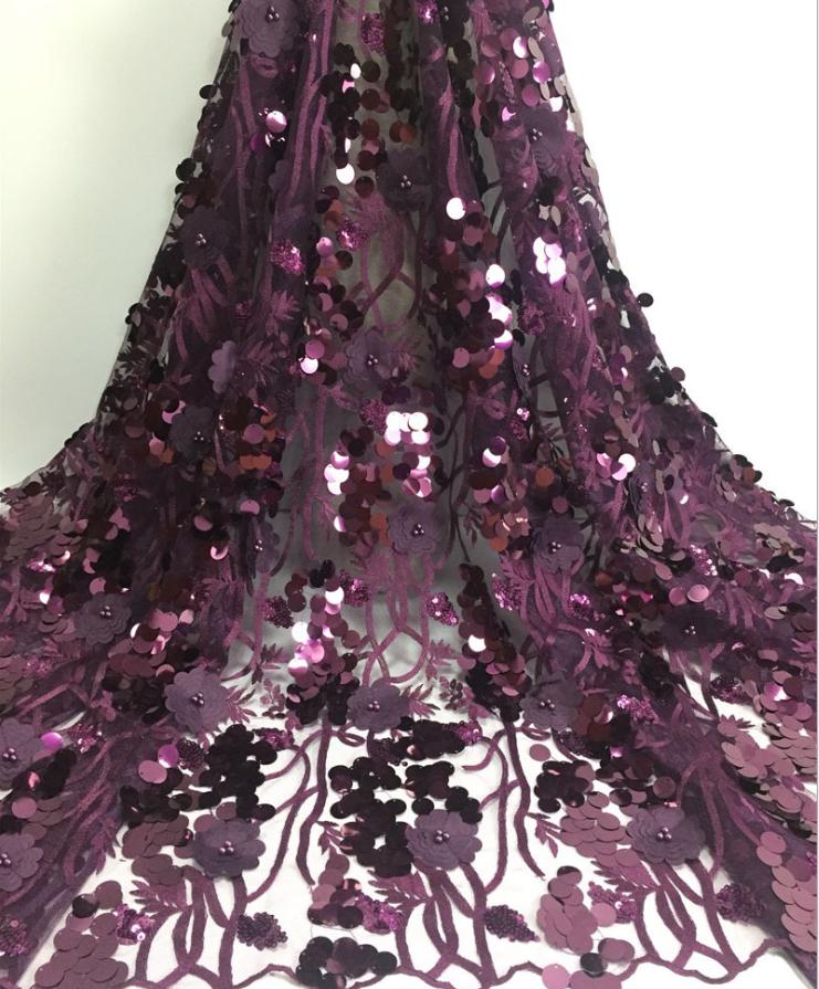 Luxury elegant applique lace fabrics