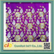 Tissu de foulard en polyester brodé Scfz04616