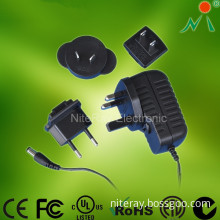 Wall Mount Interchangeable Power Adapter Universal Travel Adapter Multi Plug AC Adapter