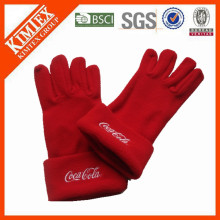 Hot selling cheap custom winter polar fleece gloves