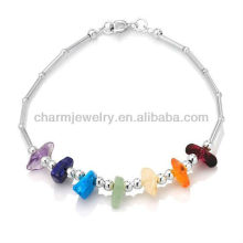 Genuine Garnet Stone Beads Bracelet Vners SB-0032
