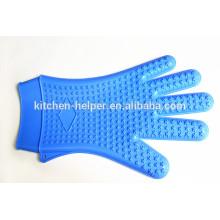 Экологически чистая пользовательская печь для приготовления пищи Термостойкие силиконовые кухонные перчатки / Силиконовая решетка для гриля BBQ Glove / Mitt