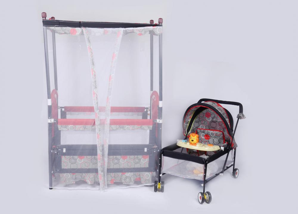 Baby Bed with Stroller and Mosquito- Net