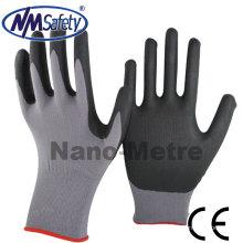 NMSAFETY 15 calibre de nylon spandex espuma de nitrilo CE EN388 4121 luvas de proteção