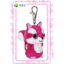 Moda rosa gato brinquedo Plush Keychain