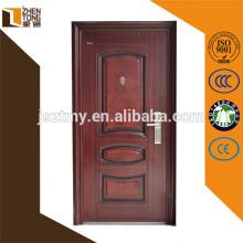 Portas de segurança de aço barato de alta qualidade, portas de aço de design moderno