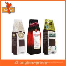 Guangzhou fábrica de nuevos productos calientes papel kraft stand up bolsas de café personalizado con más de diez años de experiencia de exportación