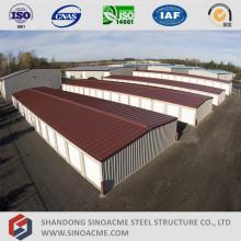 Edifício de armazenamento de aço estrutural pré-fabricado